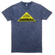 Lock the Gate Triangle on Stonewash T