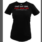 Can't eat coal on Ladies Wave T