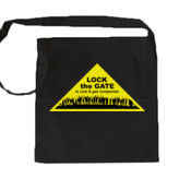 Lock the Gate triangle shoulder bag